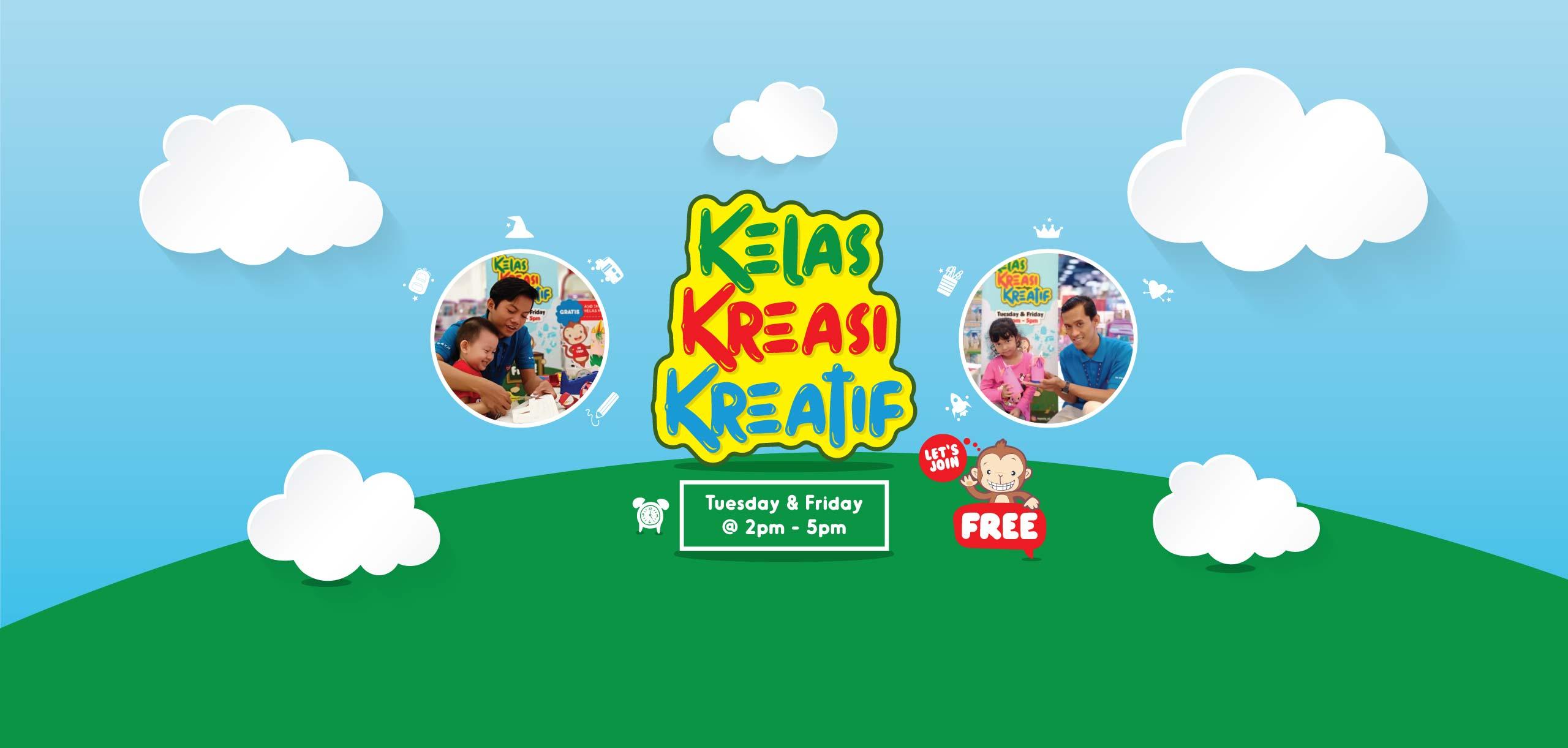 Toyscity Kelas Kreasi Kreatif every Tuesday & Friday 2pm - 5pm