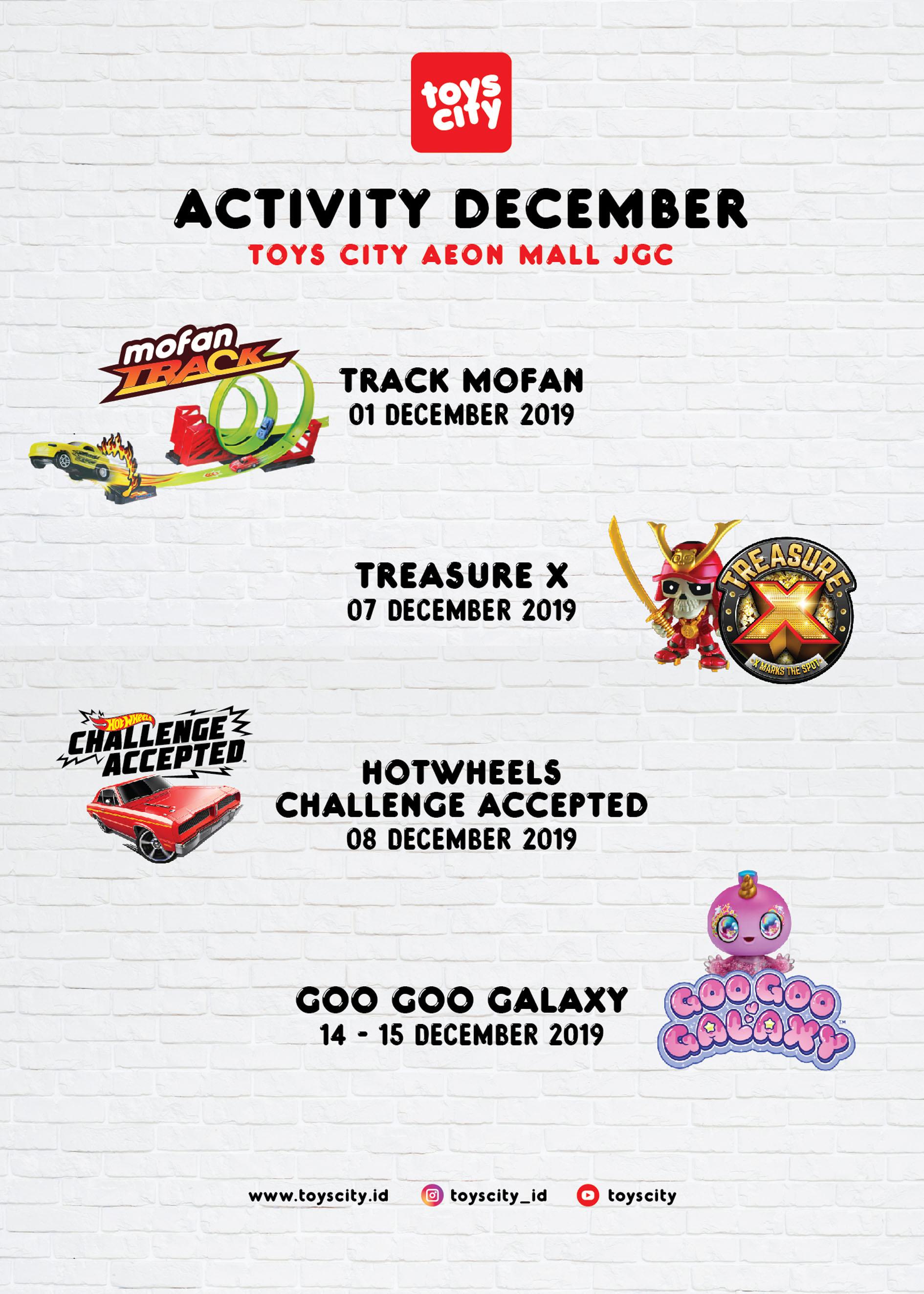 Tosycity Aeon Mall December 2019 Activity